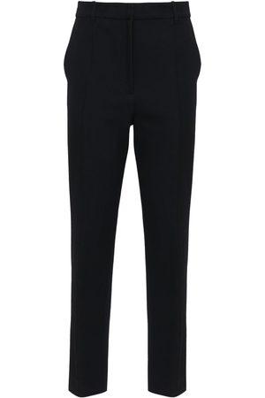 ANN DEMEULEMEESTER Wool & Cotton Straight Leg Pants