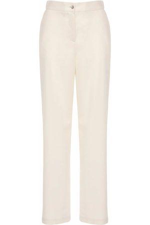 LARDINI Norma Flannel Straight Pants