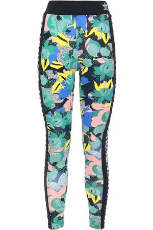 adidas Printed Stretch Cotton Leggings