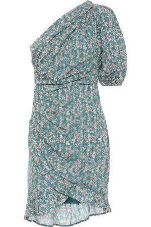 Isabel Marant Esthera floral cotton one-shoulder minidress