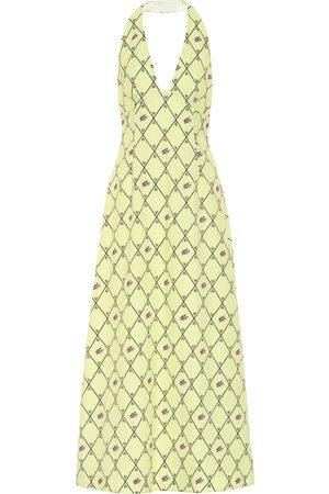 EMILIA WICKSTEAD Micah floral crêpe halter dress
