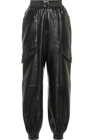 Matériel Tbilisi Faux leather trackpants