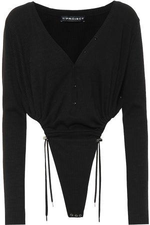 Y / PROJECT Stretch cotton bodysuit