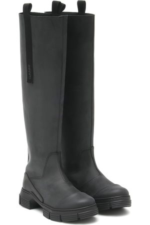 Ganni Rubber knee-high boots