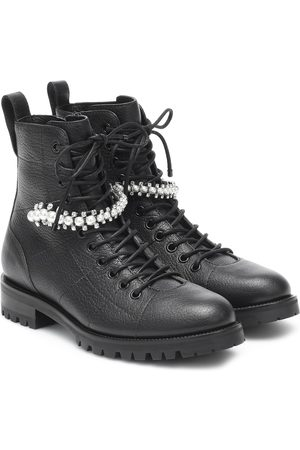 Jimmy Choo Cruz embellished leather combat boots