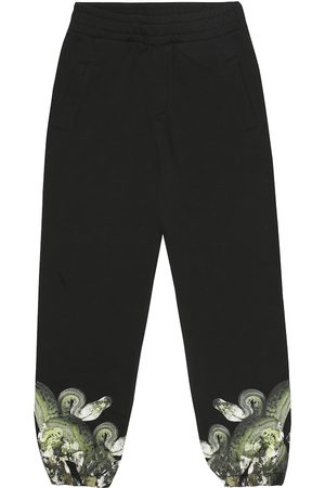 Marcelo Burlon Kids of Milan Printed cotton-blend trackpants