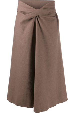LEMAIRE Twist detail midi skirt