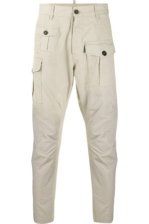 Dsquared2 Men Cargo Pants - Distressed cotton cargo pants - Neutrals