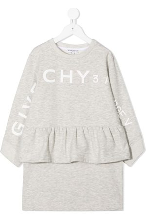 Givenchy Logo peplum jumper dress - Grey