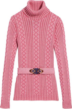 Marc Jacobs Women Sweaters - Belted ribbed-knit jumper