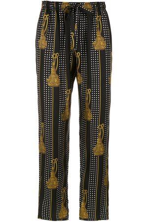 Dolce & Gabbana Tassel printed trousers