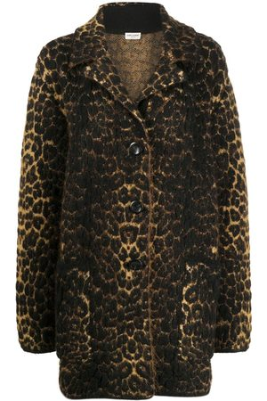 Saint Laurent Leopard print coat