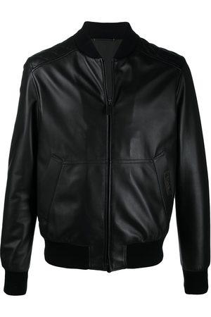 Ermenegildo Zegna Leather bomber jacket