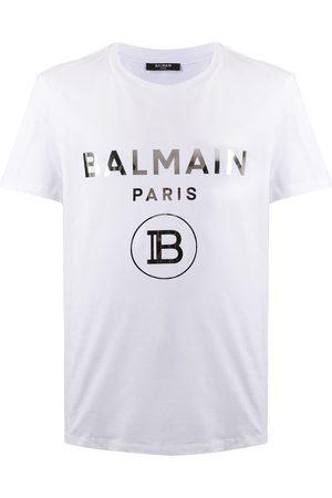 Balmain Metallic logo print T-shirt
