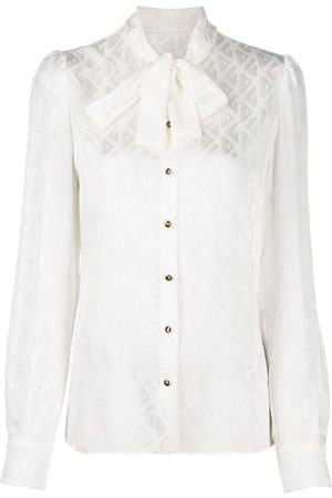 Dolce & Gabbana Pussy-bow blouse - Neutrals