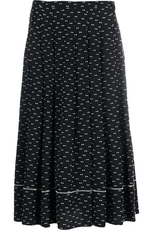 PORTS 1961 Patterned pleated skirt
