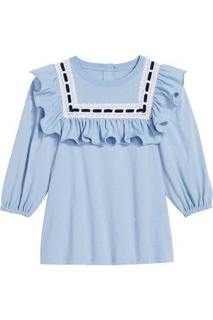Marc Jacobs Lace-trimmed cotton blouse
