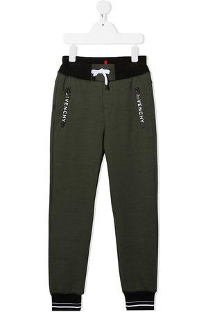 Givenchy Colour block logo print track pants