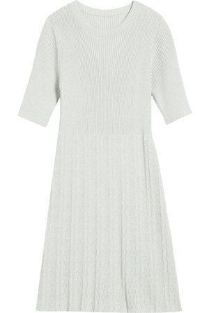 Marc Jacobs Ribbed-knit mini dress - Grey
