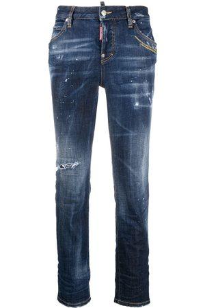 Dsquared2 Distressed slim-fit crop jeans