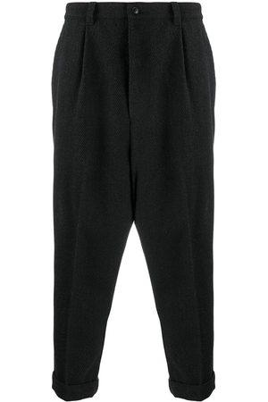 AMI Paris Cropped straight-leg trousers - Grey