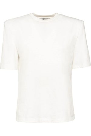 The Attico Cotton Jersey T-shirt W/padded Shoulders