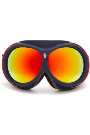 Moncler Men Ski Accessories - Logo-jacquard Strap Ski Goggles - Mens - Navy Multi