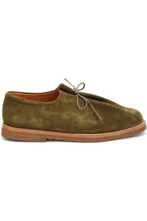 Jacques Soloviere Ray Lace-up Suede Shoes - Mens - Khaki