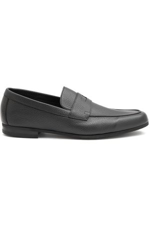 Men Loafers - John Lobb - Thorne Pebble-grain Leather Penny Loafers - Mens