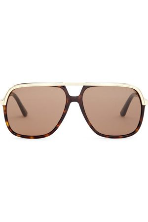 Gucci Aviator Acetate And Metal Sunglasses - Mens