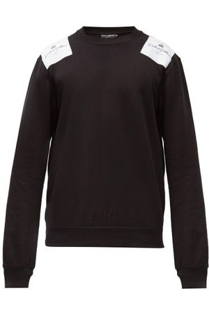 Dolce & Gabbana Logo-patch Cotton-jersey Sweatshirt - Mens