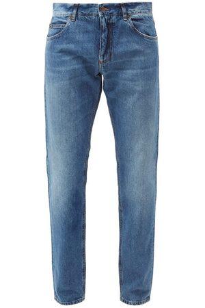Dolce & Gabbana Washed Mid-rise Slim-leg Jeans - Mens