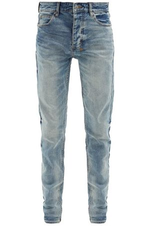 KSUBI Chitch Distressed Slim-leg Jeans - Mens - Light
