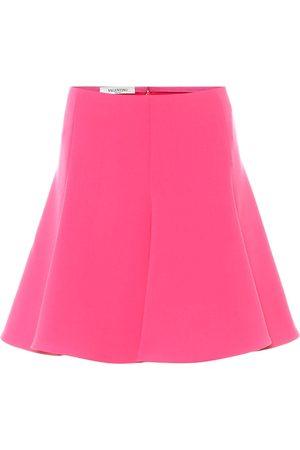 VALENTINO High-rise crêpe miniskirt