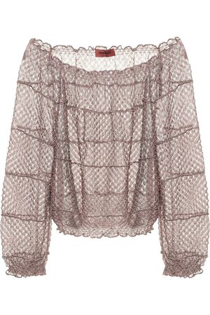 Missoni Off-shoulder knit blouse