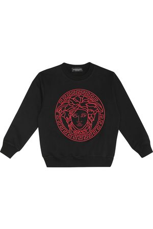 VERSACE Logo cotton-jersey sweatshirt