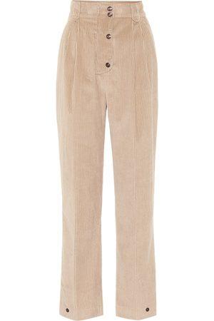 Etro High-rise corduroy straight pants