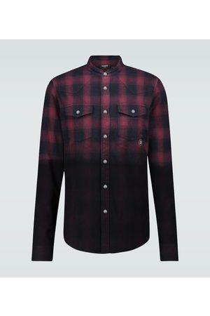 Balmain Men Casual - Cotton flannel checked shirt