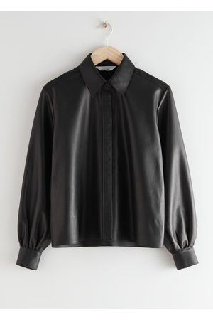& OTHER STORIES Straight Leather Shirt