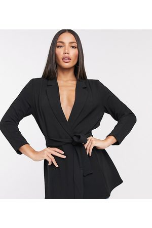 ASOS ASOS DESIGN Tall jersey wrap suit blazer in