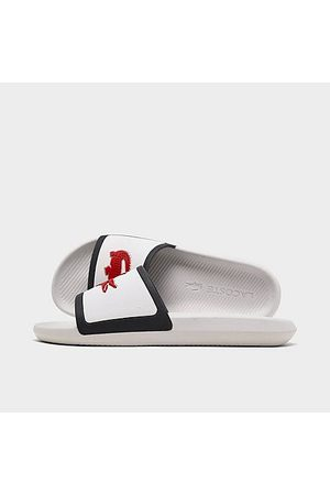 Lacoste Men's Croco Tri3 Slide Sandals in Size 12.0