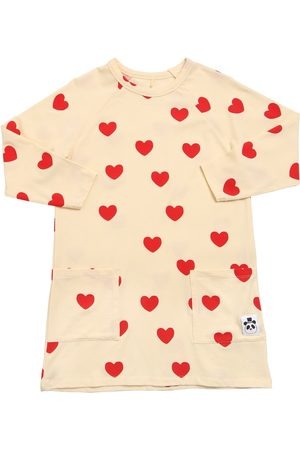 Mini Rodini Heart Print Lyocell Jersey Dress