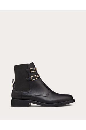 VALENTINO GARAVANI Women Ankle Boots - Rockstud Calfskin Ankle Boot 20 Mm Women Polyester 74%, Elastane 26% 36