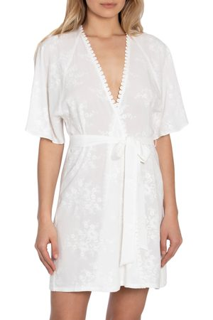 Jonquil Women's Free As A Bird Embroidered Short Robe