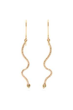 Ileana Makri Women Earrings - Lucky Snake Diamond & 18kt Rose- Earrings - Womens - Rose