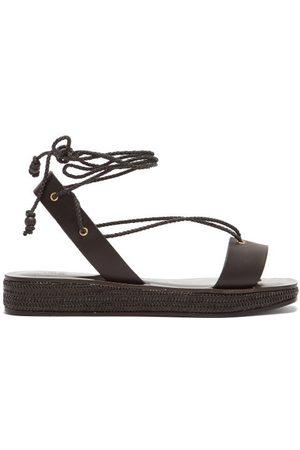 Álvaro X Thierry Colson Tolga Leather Flatform Sandals - Womens