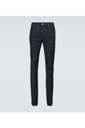 Saint Laurent Skinny-fit coated jeans