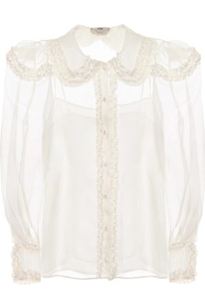 Fendi Sheer silk blouse