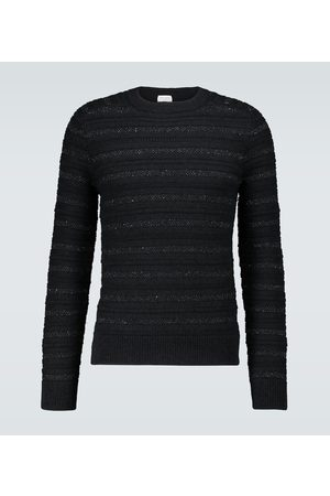 Saint Laurent Metallic detail striped sweater