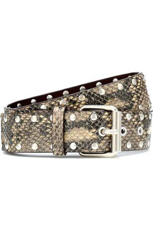 DRIES VAN NOTEN Snake-effect leather belt